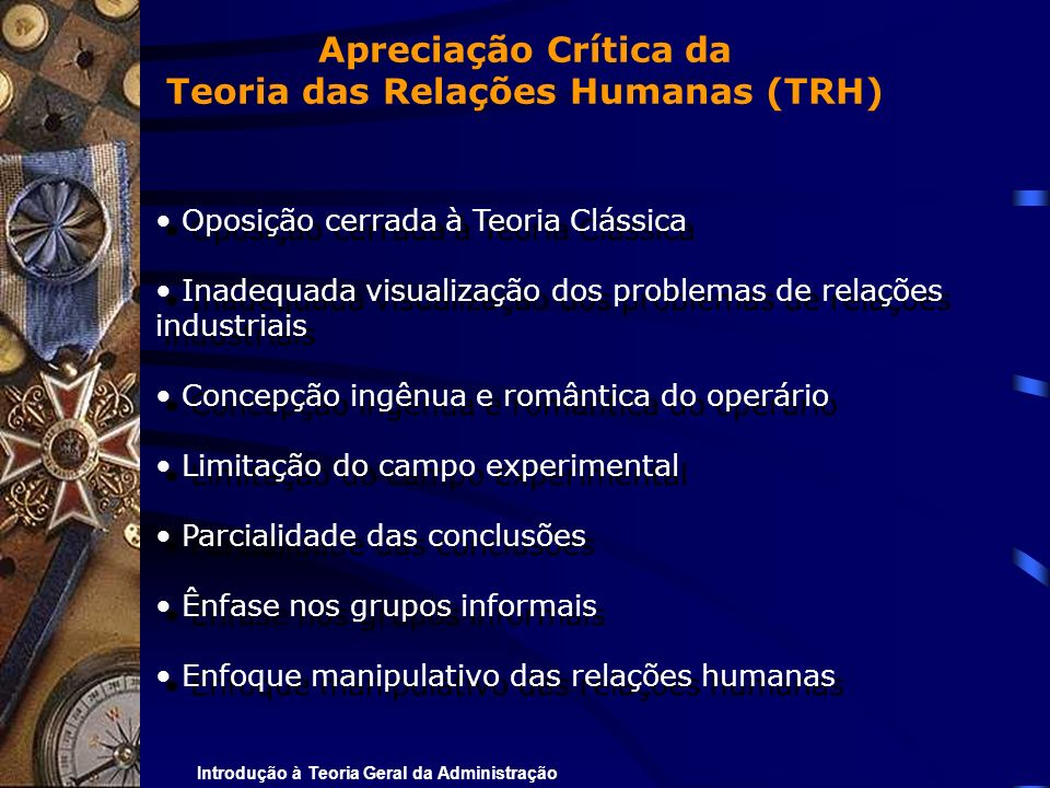 Teoria das Relações Humanas (TRH)