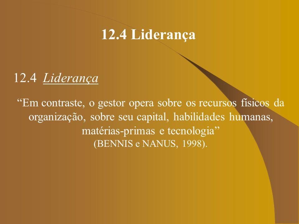 12.4 Liderança 12.4 Liderança.