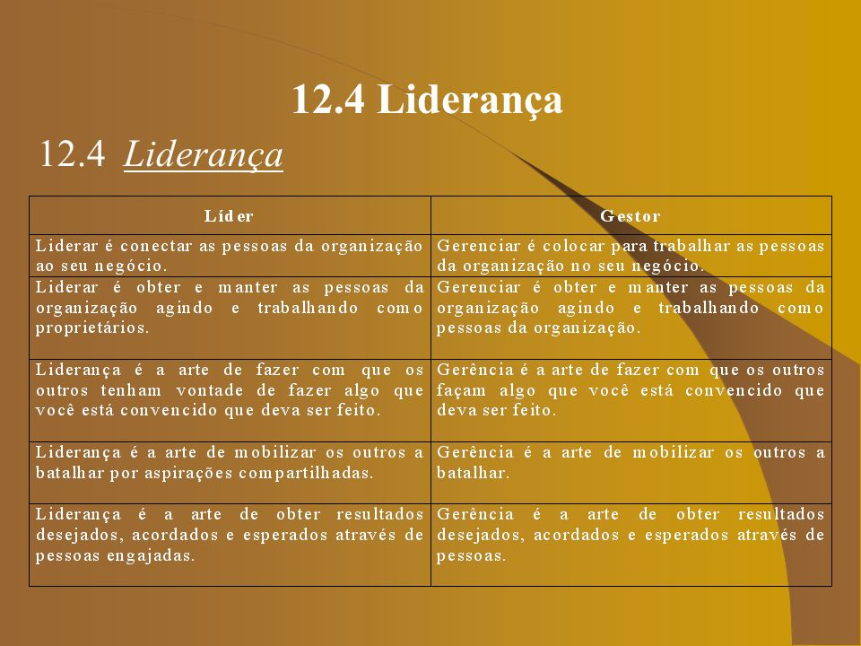 12.4 Liderança 12.4 Liderança