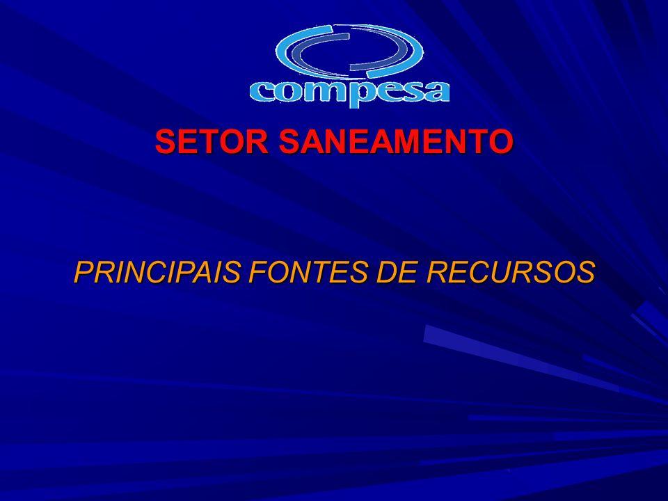PRINCIPAIS FONTES DE RECURSOS