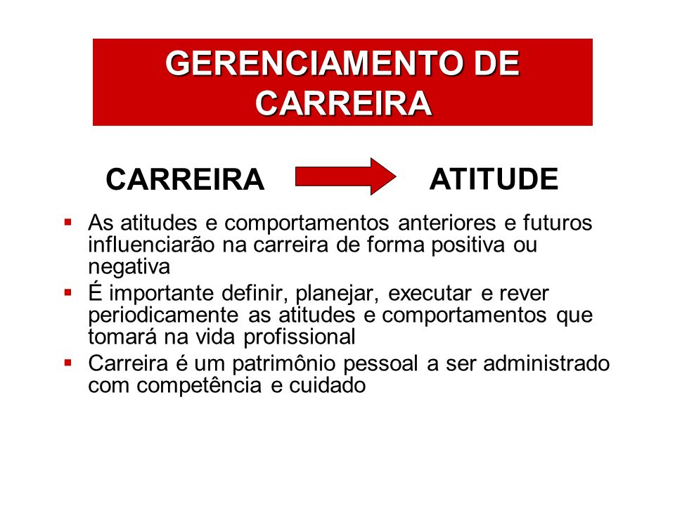 GERENCIAMENTO DE CARREIRA