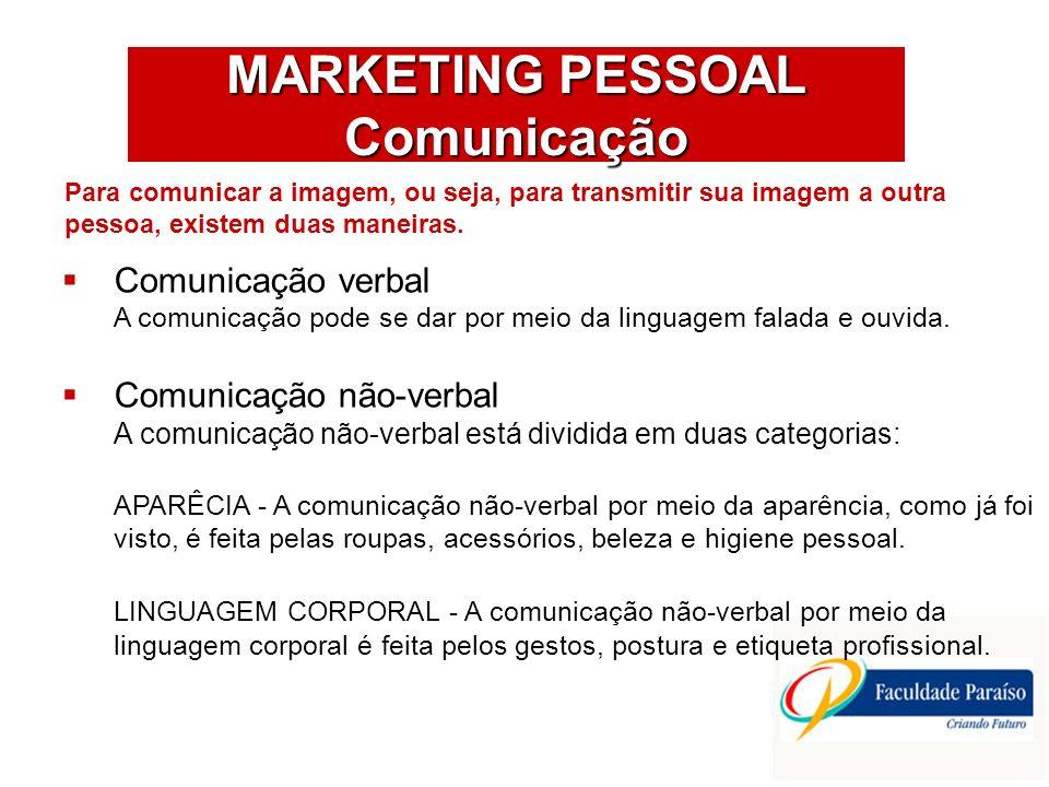 MARKETING PESSOAL Comunicação