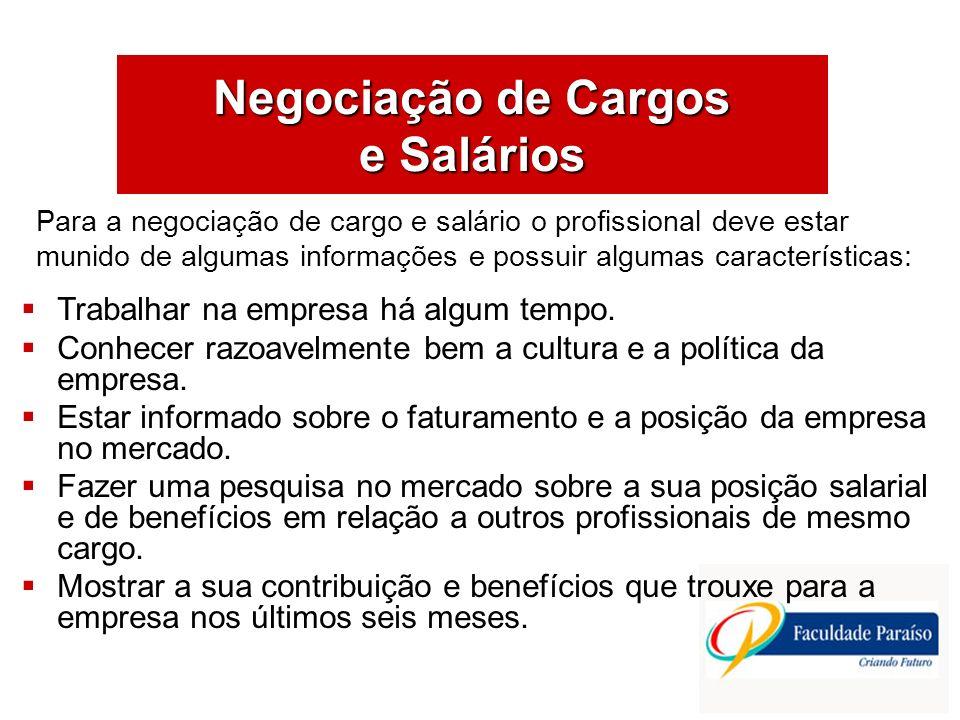 Negociação de Cargos e Salários