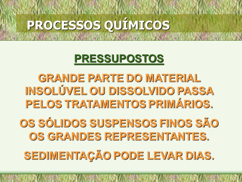 PROCESSOS QUÍMICOS PRESSUPOSTOS
