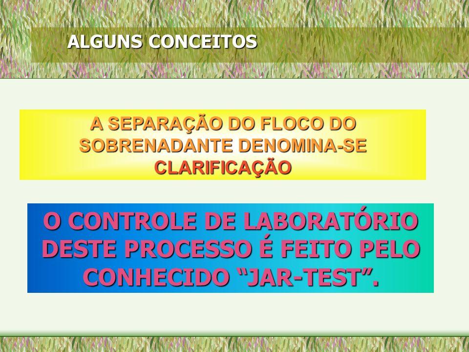 A SEPARAÇÃO DO FLOCO DO SOBRENADANTE DENOMINA-SE CLARIFICAÇÃO