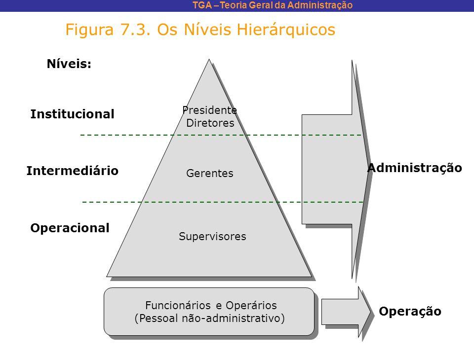 Figura 7.3. Os Níveis Hierárquicos