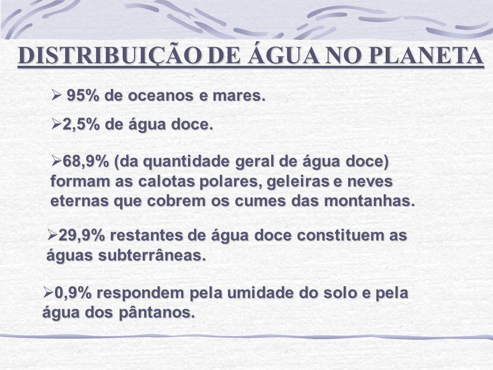 DISTRIBUIÇÃO DE ÁGUA NO PLANETA