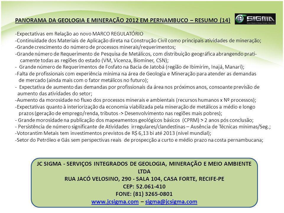 PANORAMA DA GEOLOGIA E MINERAÇÃO 2012 EM PERNAMBUCO – RESUMO (14)
