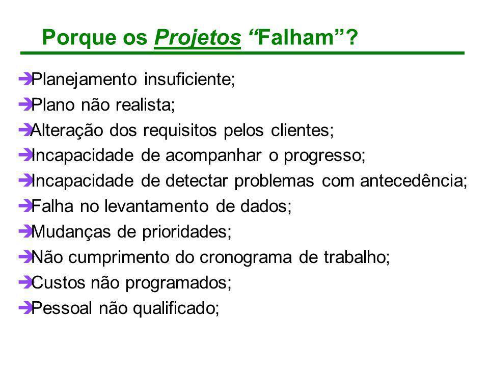 Porque os Projetos Falham