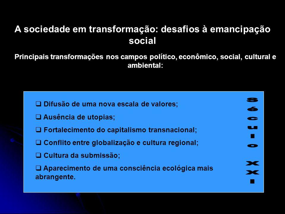 A sociedade em transformação: desafios à emancipação social