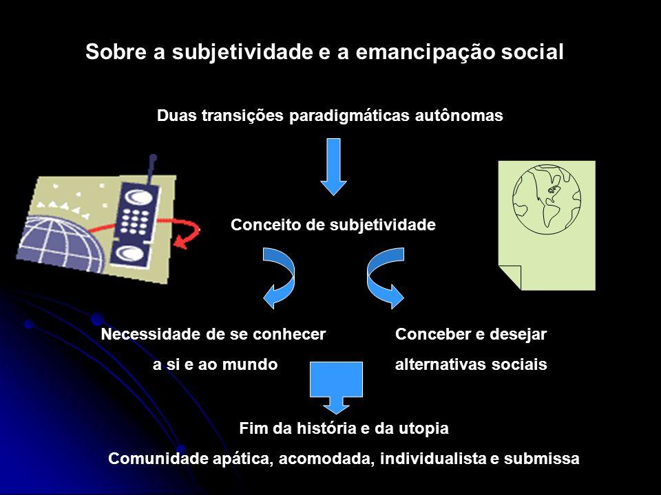 Sobre a subjetividade e a emancipação social