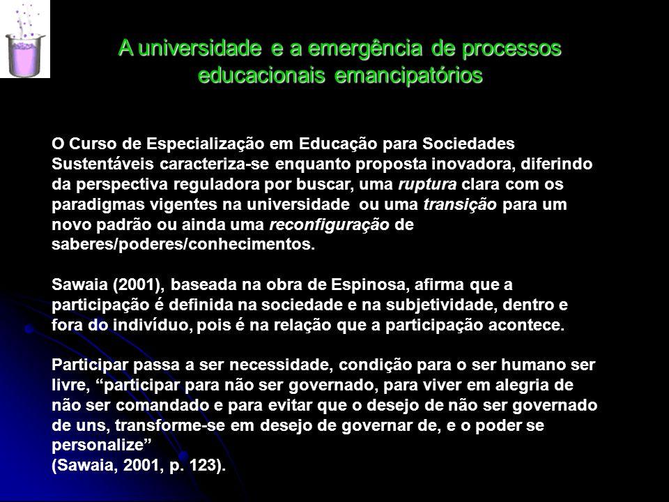 A universidade e a emergência de processos educacionais emancipatórios