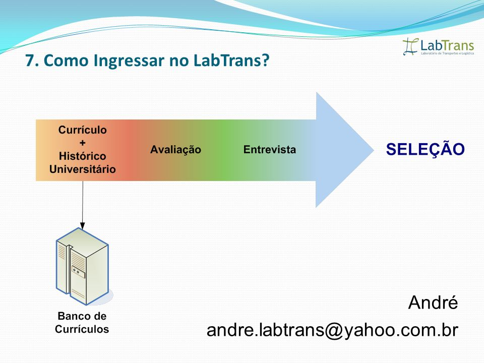 7. Como Ingressar no LabTrans