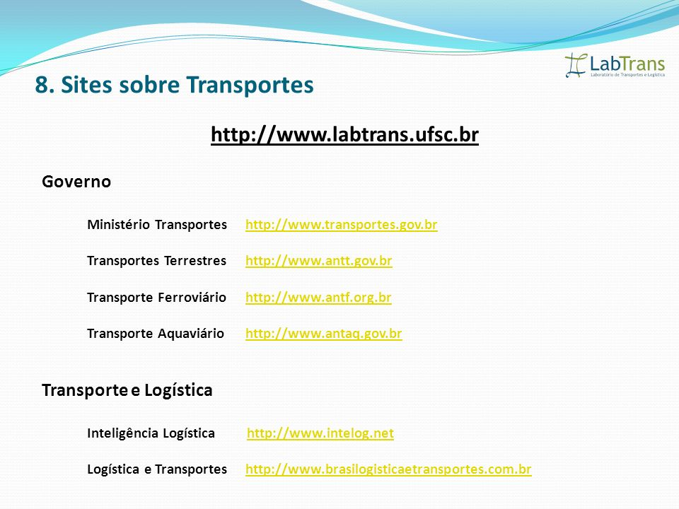 8. Sites sobre Transportes