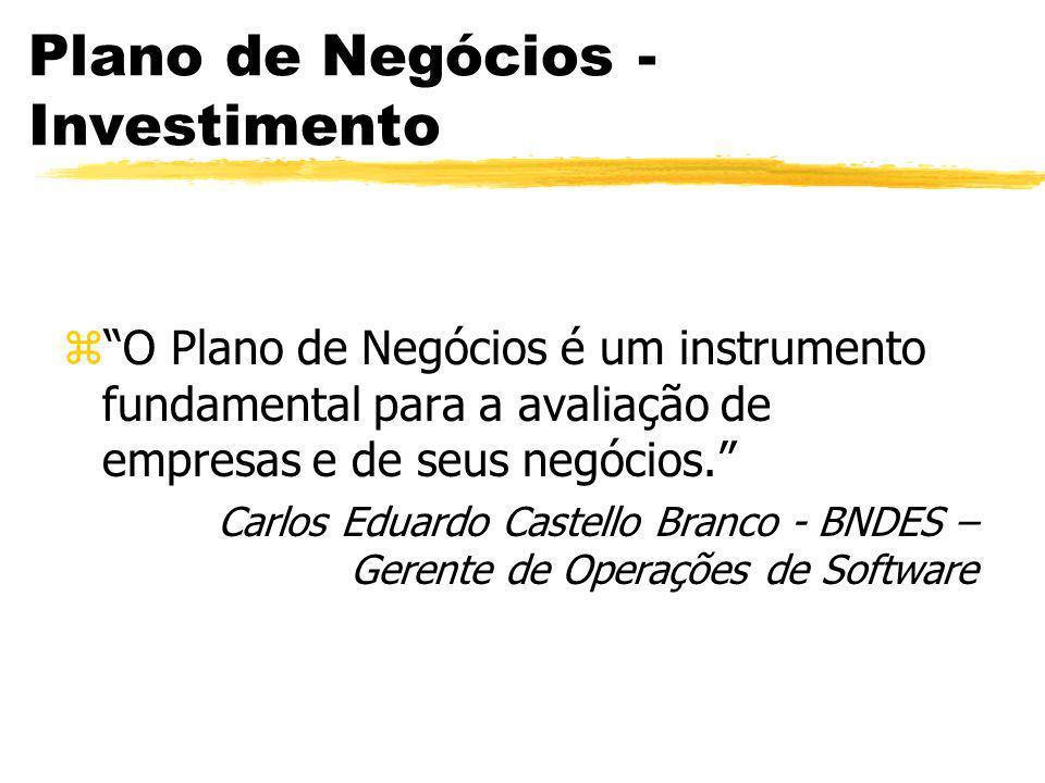 Plano de Negócios - Investimento