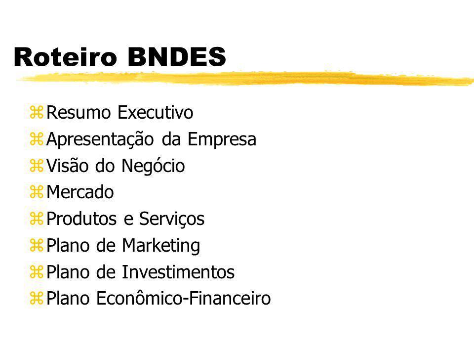 Roteiro BNDES Resumo Executivo Apresentação da Empresa
