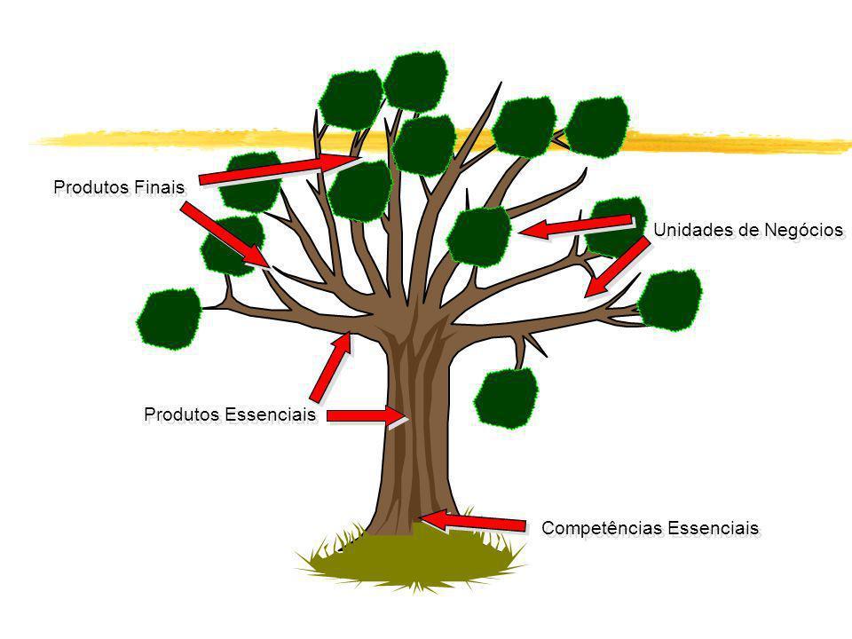 Produtos Finais Unidades de Negócios Produtos Essenciais Competências Essenciais