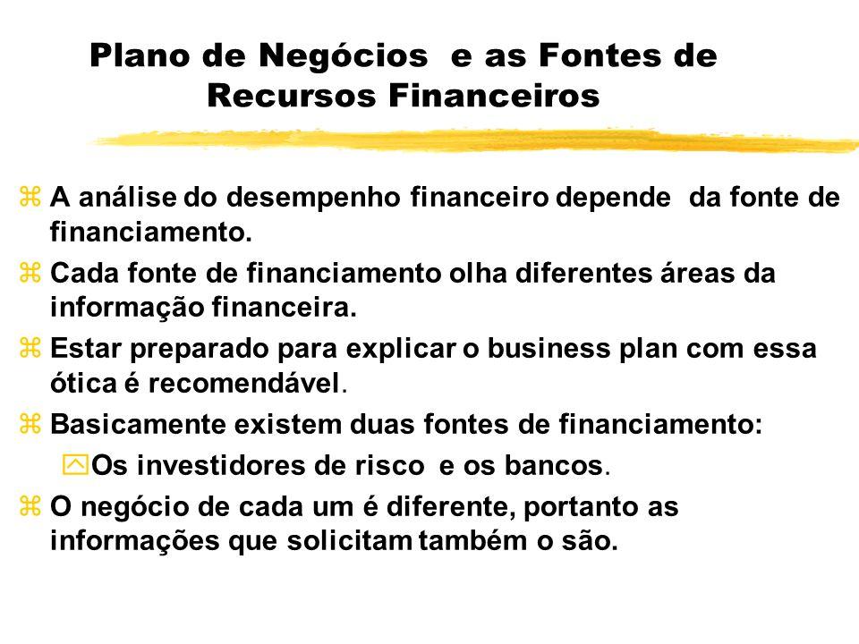 Plano de Negócios e as Fontes de Recursos Financeiros