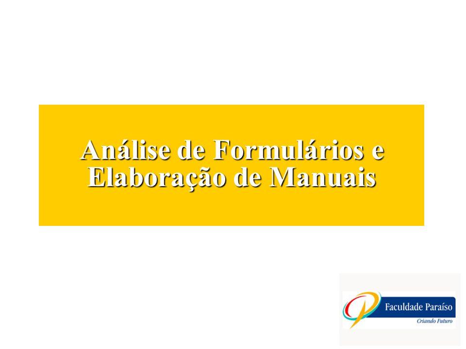 Análise de Formulários e Elaboração de Manuais
