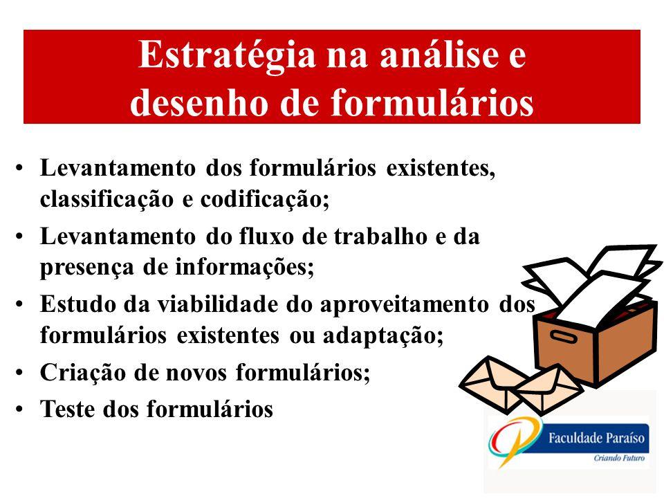Estratégia na análise e desenho de formulários