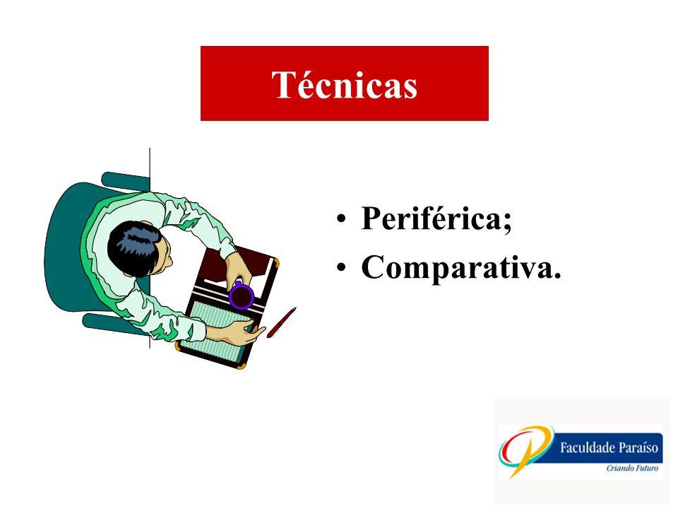 Técnicas Periférica; Comparativa.