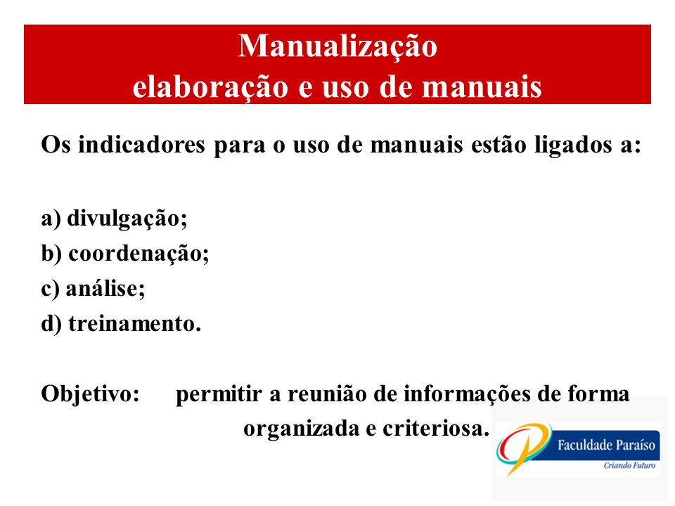 Manualização elaboração e uso de manuais