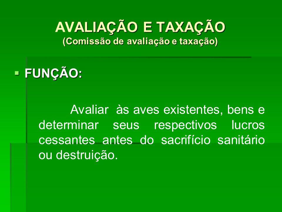 AVALIAÇÃO E TAXAÇÃO (Comissão de avaliação e taxação)