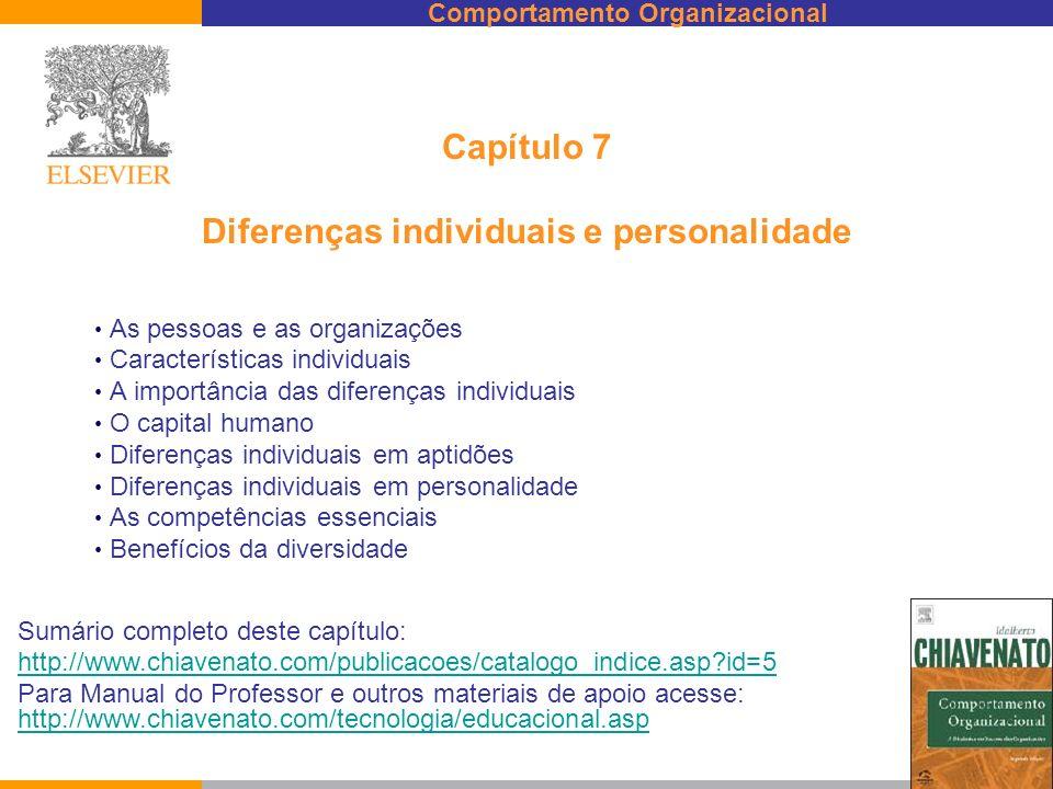 Capítulo 7 Diferenças individuais e personalidade