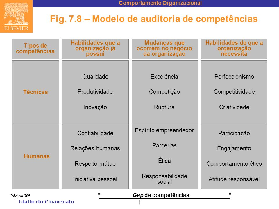 Fig. 7.8 – Modelo de auditoria de competências