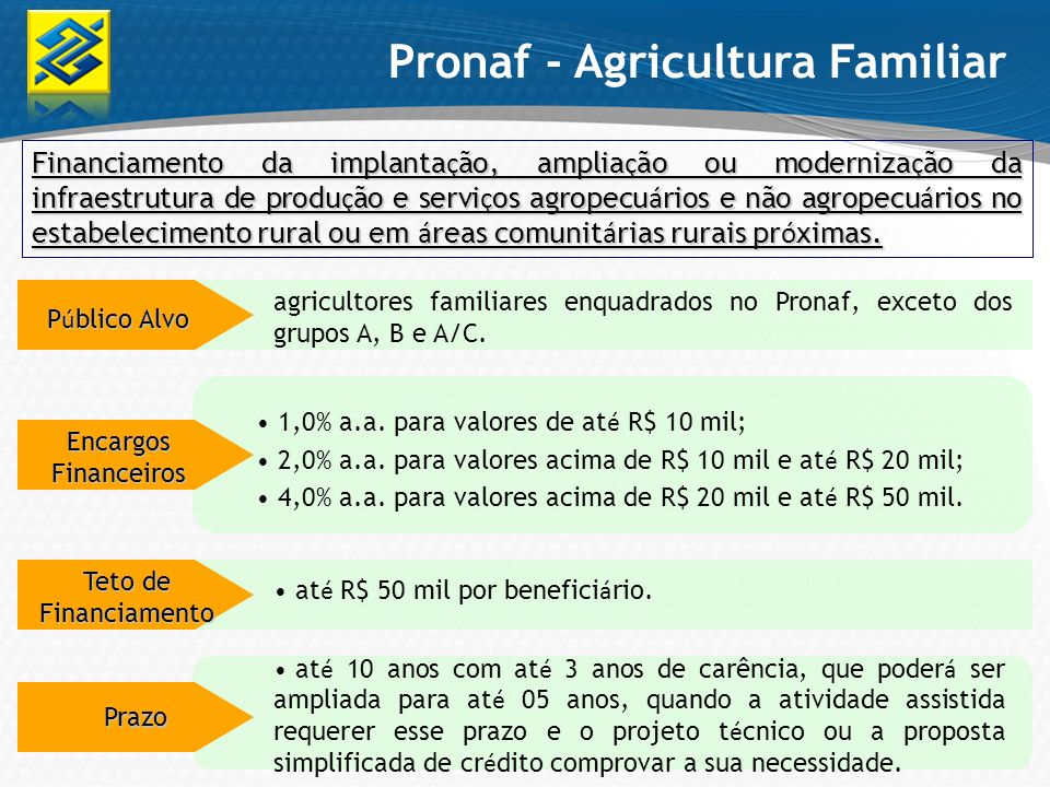 Pronaf - Agricultura Familiar
