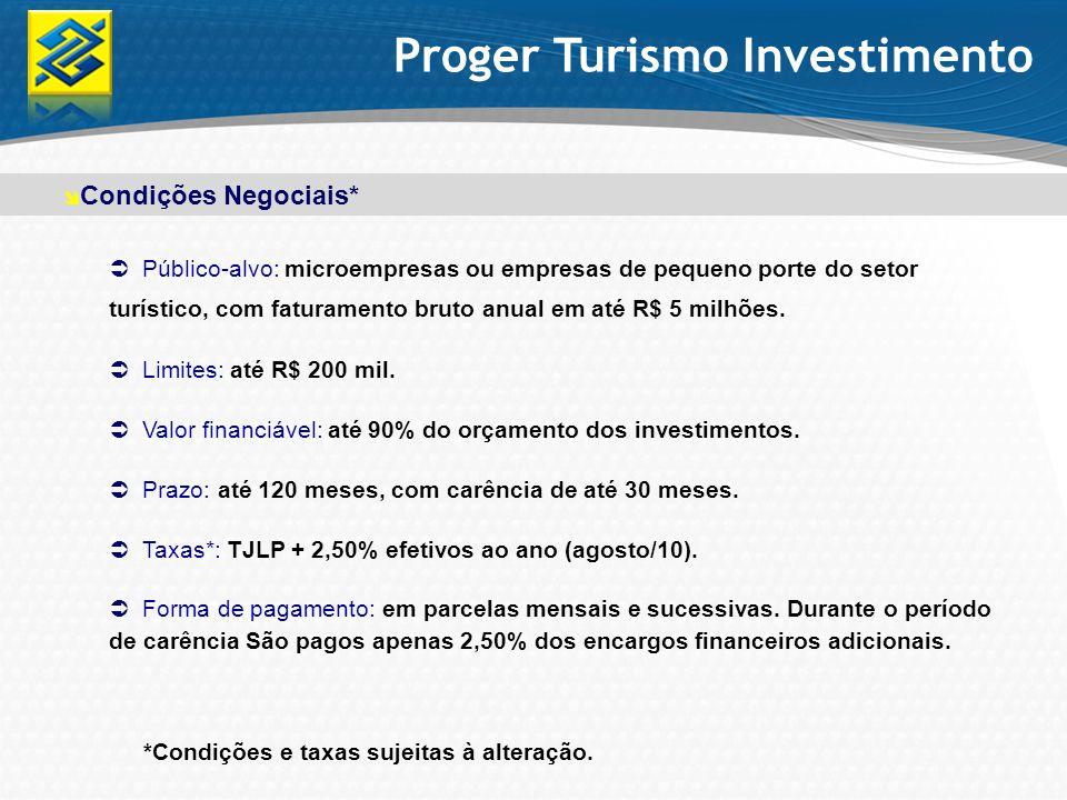 Proger Turismo Investimento