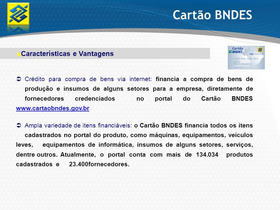 Cartão BNDES Características e Vantagens