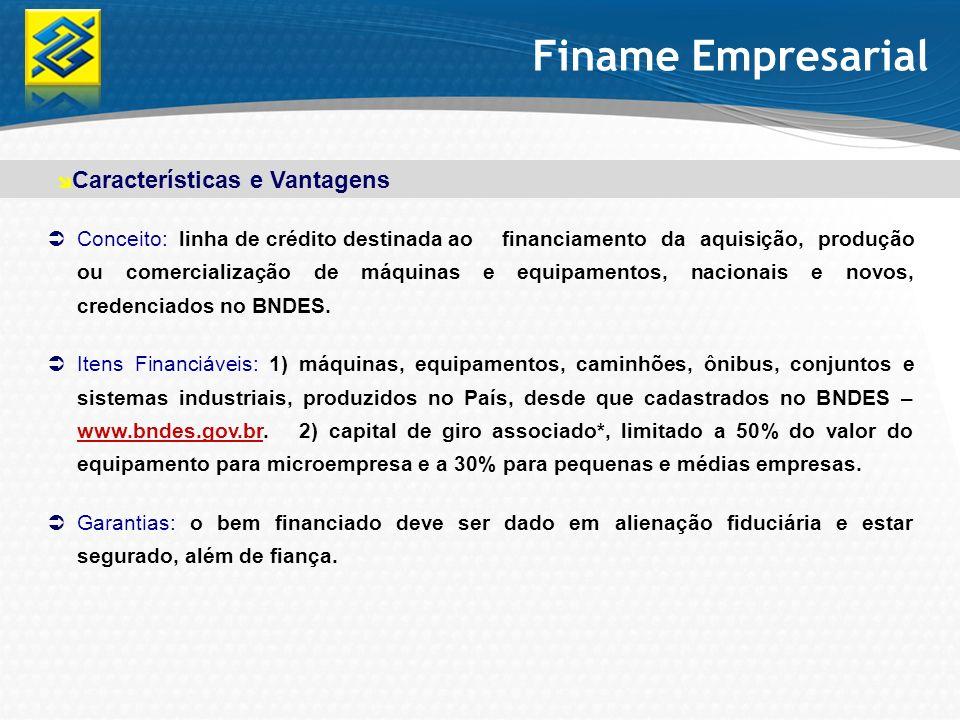 Finame Empresarial Características e Vantagens