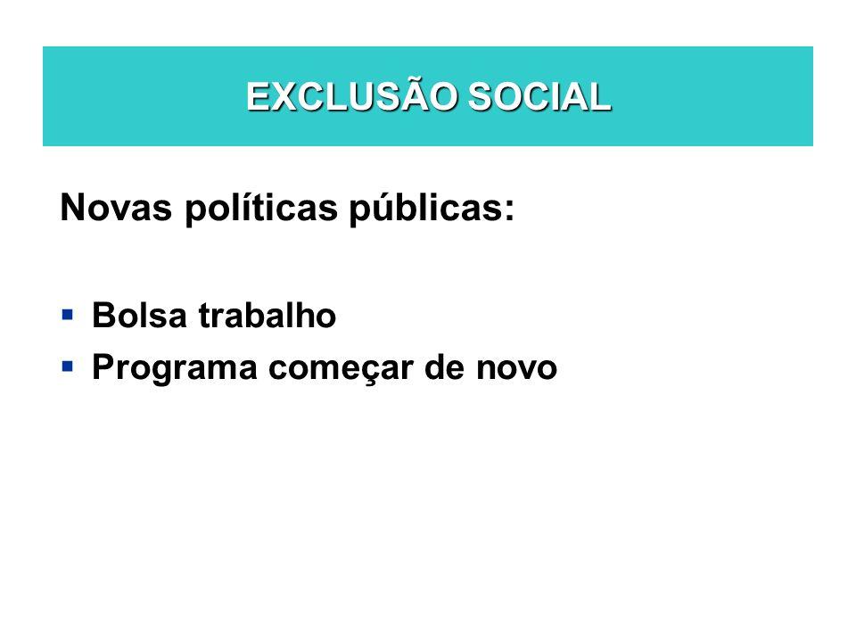 Novas políticas públicas: