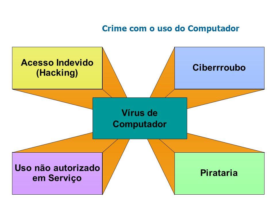 Acesso Indevido Ciberrroubo (Hacking) Vírus de Computador