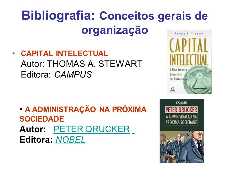 Bibliografia: Conceitos gerais de organização