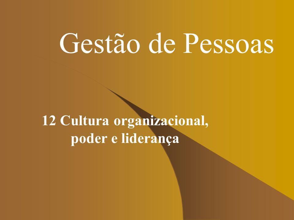 12 Cultura organizacional, poder e liderança