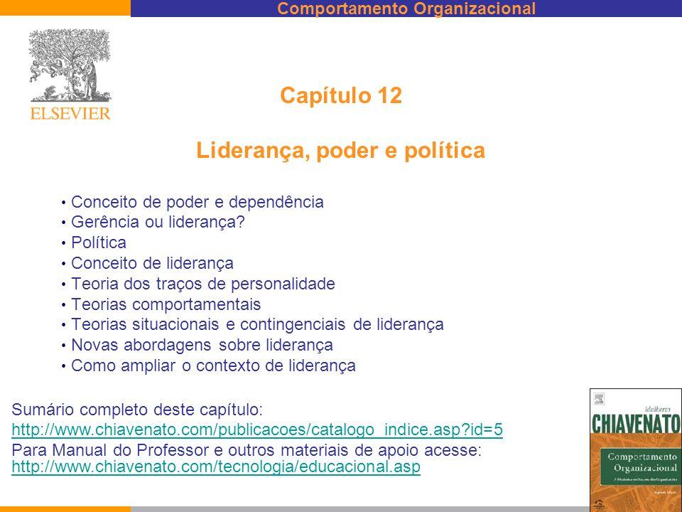 Capítulo 12 Liderança, poder e política