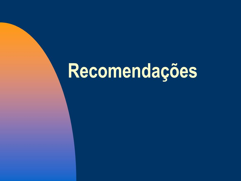 26/03/2017Recomendações.
