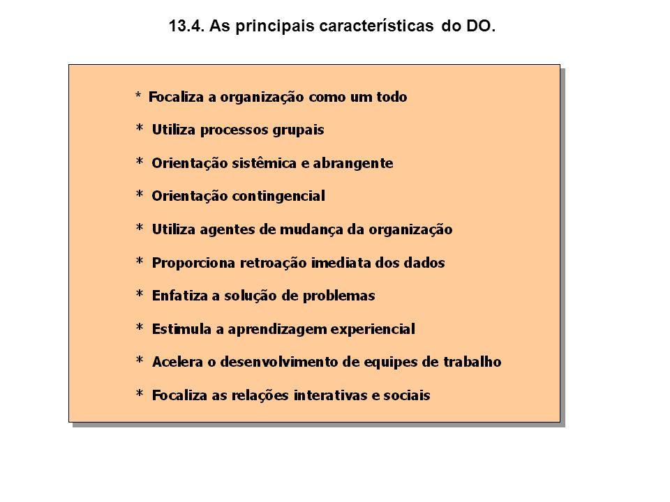 13.4. As principais características do DO.