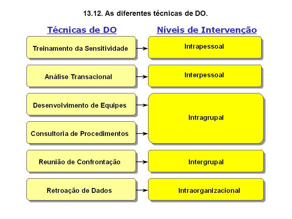 13.12. As diferentes técnicas de DO.