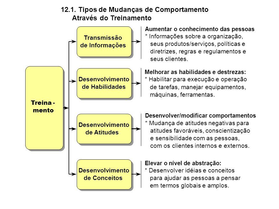12.1. Tipos de Mudanças de Comportamento Através do Treinamento