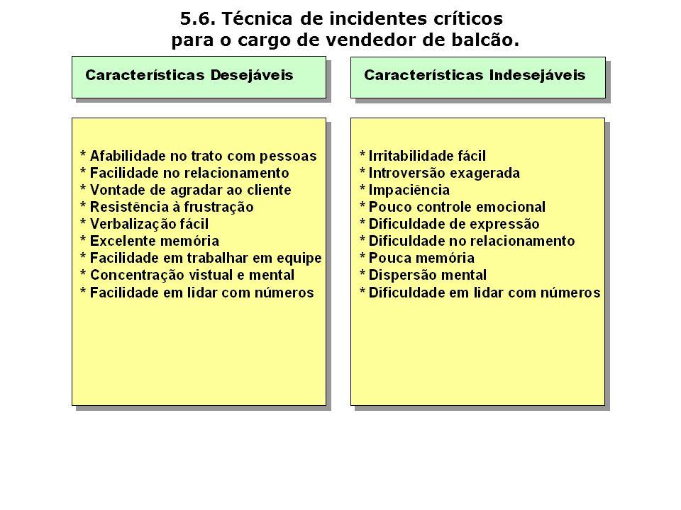 5.6. Técnica de incidentes críticos