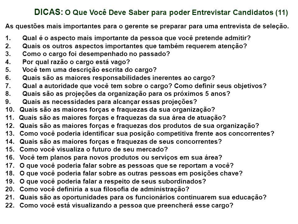 DICAS: O Que Você Deve Saber para poder Entrevistar Candidatos (11)