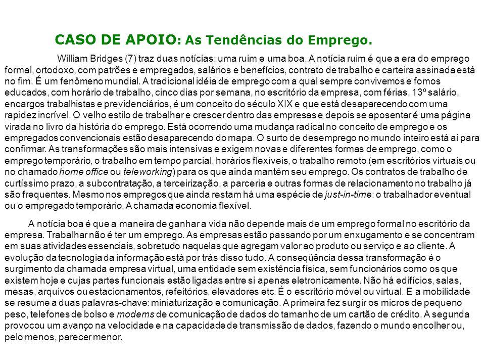 CASO DE APOIO: As Tendências do Emprego.