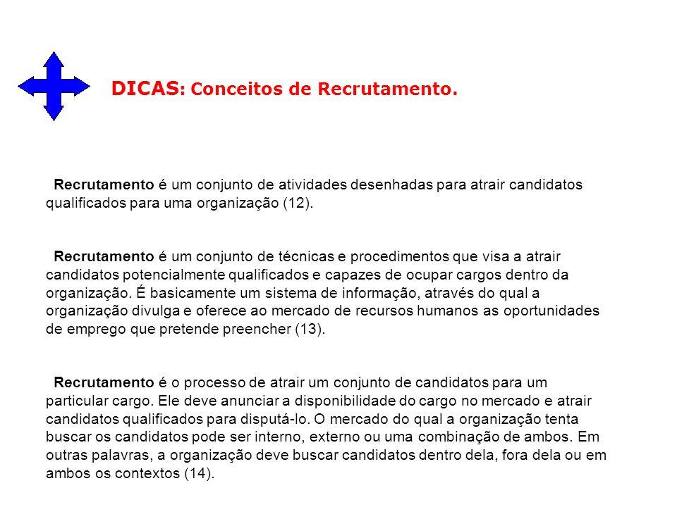 DICAS: Conceitos de Recrutamento.