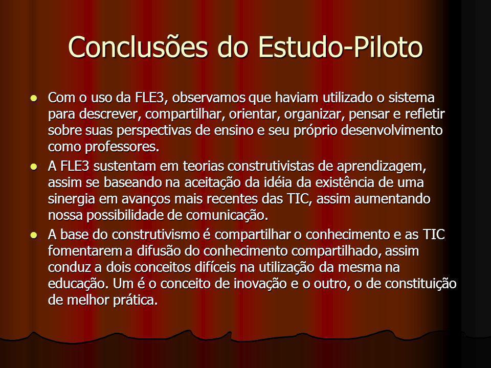 Conclusões do Estudo-Piloto
