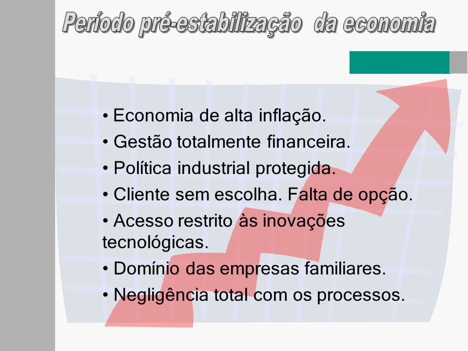 Período pré-estabilização da economia