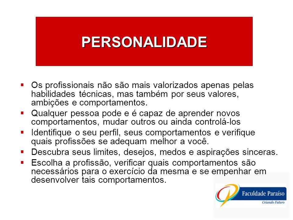 PERSONALIDADE Os profissionais não são mais valorizados apenas pelas habilidades técnicas, mas também por seus valores, ambições e comportamentos.