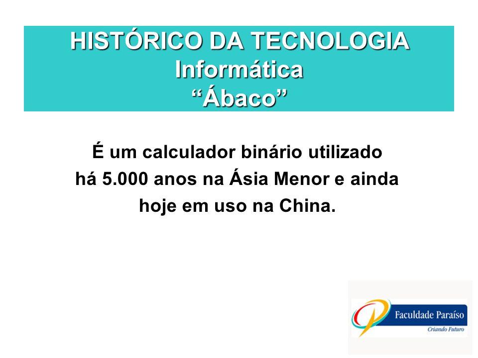 HISTÓRICO DA TECNOLOGIA Informática Ábaco